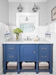 21 Favorite Bathroom Backsplash Ideas For Every Style And Budget Blue Bathroom Vanity Bathroom Vanity Designs Beach Bathroom Decor