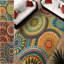 bright colored rugs for classroom