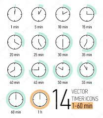 Set Timer 1 Min Set Of Timer Icons Stock Vector Masha_tace 60824595
