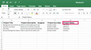 Status Template Project Spreadsheet Dashboard Excel Free – Iinan.co