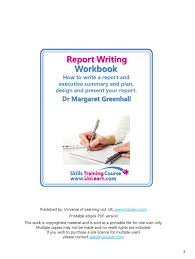 Training Report Cover Page Report Writing Skills Training Course Workbook How To Write