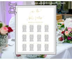 Seating Chart Wedding Wedding Gold Seating Charts Wedding Seating Plan Gold Wedding Seating Chart 025w