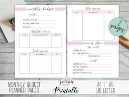 Monthly Budget Planning Monthly Budget Planner Printable Finances Planner Expense Tracker Income Tracker Budget Planner Financial Planner Money Planning