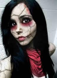 broken doll makeup i just like how it really looks like shattered porcelain diy