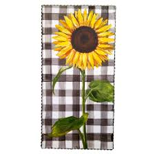 Image Bright Bold Categories Home Martha Stewart Gallery Gingham Sunflower Home Decor Accents For Your Style
