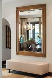 Hallway bench with mirror