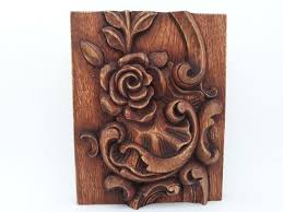 wood carving art carved wood wall art