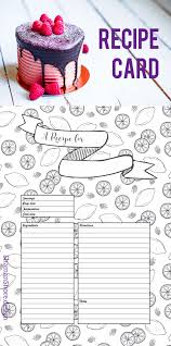 a4 recipe card template fun recipe template 8 x 11 printable blank recipe pages recipe sheets recipe planner printables digital