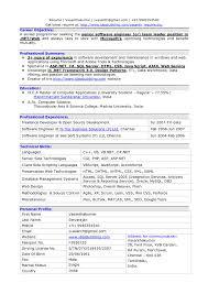 Resume Format For Software Engineer Fresher Fresher Resume
