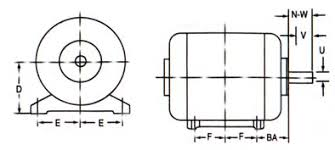 Nema Motor Hp Chart Electrical Motors Frame Dimensions