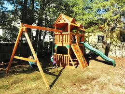 swing set installer nj cedar summit lookout lodge 3 slide cedar playset from costco installer gorilla playsets assembly and installation