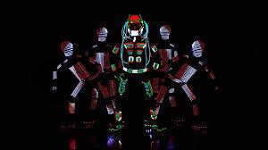 Tron Dance Lights Visual Tron Dance An Amazing Outdoor Led Dance Skeleton