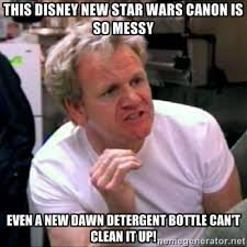 this disney new star wars canon is so messy even a new dawn ... via Relatably.com