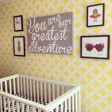 stencil wall art for nursery