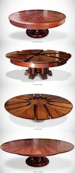 the fletcher capstan table expands by simply spinning the table top a beautiful and ingenious design
