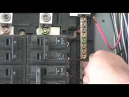 how to change a breaker youtube replacing main fuse panel with a breaker panel at How To Change A Fuse Box To A Breaker Box