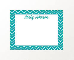 Personalized Custom Stationary Note Card Set Details Set Of Flat