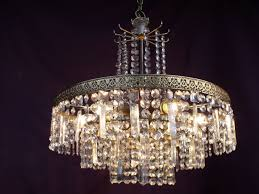 vintage chandelier with glass crystals 2nd half 20th century