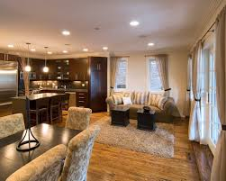 Open Kitchen And Living Room Sliding Glass Doors Opening Onto