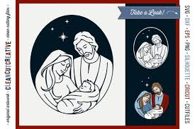 Explore our other popular graphic design and craft resources. Free Svg Christmas Nativity Design Holy Night Baby Jesus Svg Dxf Eps Png 1000 Downloads Free Svg Cut Files