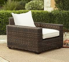 Torrey All Weather Wicker Square Arm Occasional Chair Espresso