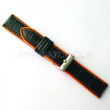 20mm 22mm 24mm leather silicone combined stitching watch band fashion strap