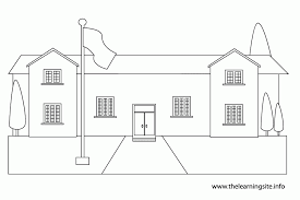 Small Picture Best Photos Of Schoolhouse Outline For Coloring Schoolhouse Clip
