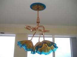 copper blown glass chandelier amber turquoise chandelier chandelier art glass lighting