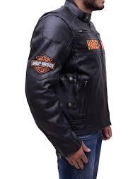 harley davidson mens motorcycle riding real leather jacket