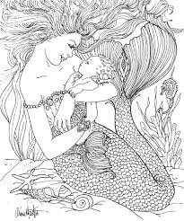 Mermaid By Diana Martin Coloring Book