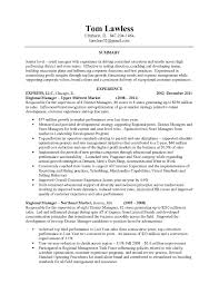 Retail Store Manager Resume Sample Free For Download Summary Awesome