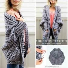 Crochet Oversized Sweater Pattern New Oversized Chunky Sweater Pattern Gorgeous Crochet Ideas