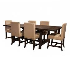 yosemite 7 piece rectangular set rectangular table with 6 upholstered side chairs bernie phyl s furniture by modus furniture international