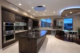 kitchens with dark brown cabinets. Contemporary Kitchen With Dark Brown Cabinets Glass Counter Peninsula Kitchens :