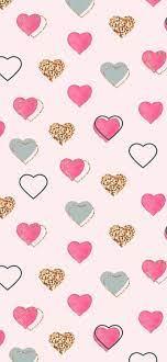 cute, girly, glitter, gold, heart ...