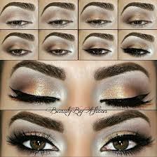 brown and grey cut crease