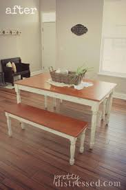 Kitchen Table Makeover Pretty Distressed Walmart Kitchen Table Makeover
