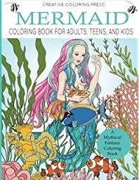 mermaid coloring book for s s and kids a mythical fantasy coloring book