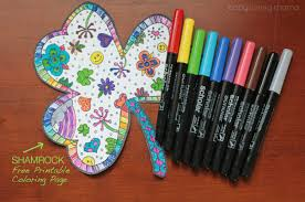 You can find so many unique, cute and complicated pictures for children of all ages as well as many g. Shamrock Coloring Page Free Printable Finding Zest