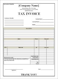 Tax Invoice Layout Under Fontanacountryinn Com