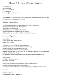 Helpful Class B Bus Driver Resume Sample Expozzer
