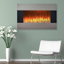 electric fireplace wall mount floor stand in stainless 80 421s the home depot