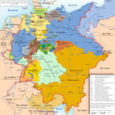 was economically united a decade before she came karte des deutschen bundes 1815 1866 map of german confederation 1815 1866