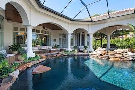 an infinity of lagoon style luxury with a lake and golf course view extended just