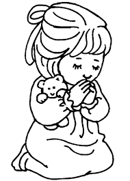Bible Coloring Pages Kids Praying To God Coloringstar