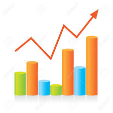 Chart Progress Template Chart Shows The Progress Of The Presentation For Your