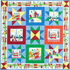 Baby Quilt Kit Precut Charm Pack Quilt Kit Quilting Ideas Sewing ... & Easy Baby Boy Quilt Kits Quick And Easy Baby Quilt Kits Zoo City Quilt Kit  Fast Adamdwight.com