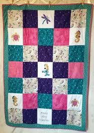 mermaid baby quilt girl twin size crib bedding set purple b