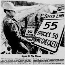 Image result for 1974 Nixon signs national speed limit into law
