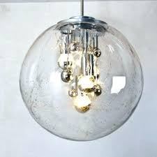 glass pendant shade large bubble glass pendant lights from set of 2 2 large glass pendant